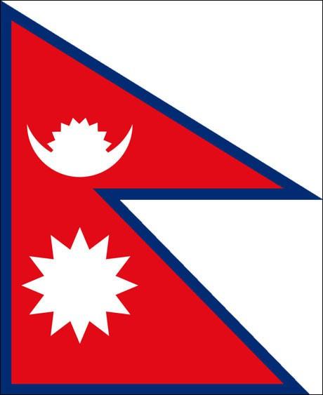 Nepal als Fanfahne