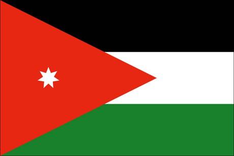 Jordanien als Fanfahne