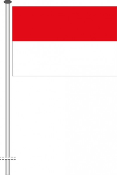 Indonesien als Querformatfahne
