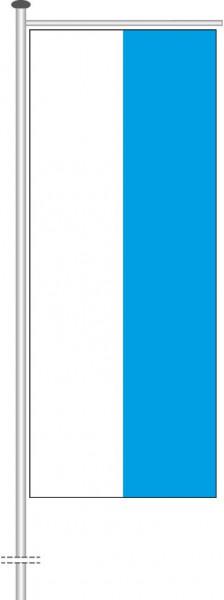 Bayern - Streifenflagge als Auslegerfahne