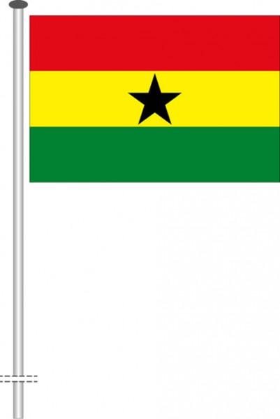 Ghana als Querformatfahne