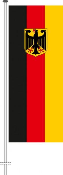 Bundeswappenflagge als Hochformatfahne