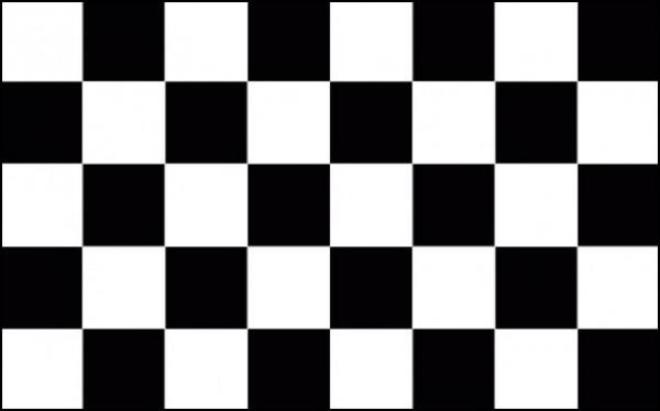 Start/Ziel-Flagge als Fanfahne
