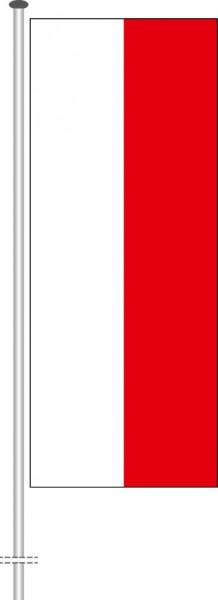 Thüringen - Streifenflagge als Hochformatfahne