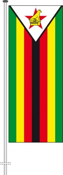 Simbabwe als Hochformatfahne