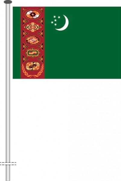 Turkmenistan als Querformatfahne