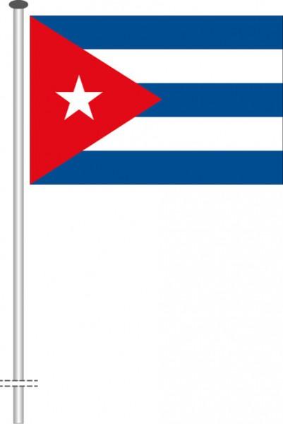 Kuba als Querformatfahne