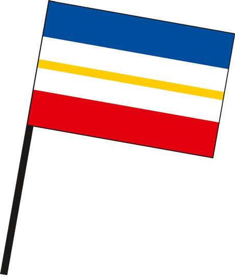 Mecklenburg-Vorpommern - Streifenflagge als Stockfahne