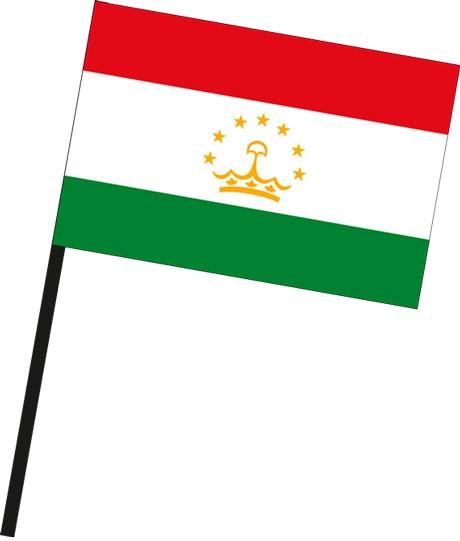 Tadschikistan als Stockfahne