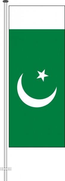 Pakistan als Hochformatfahne