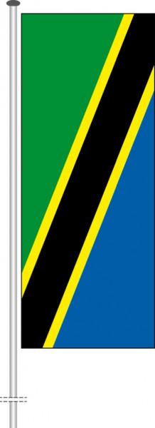 Tansania als Hochformatfahne