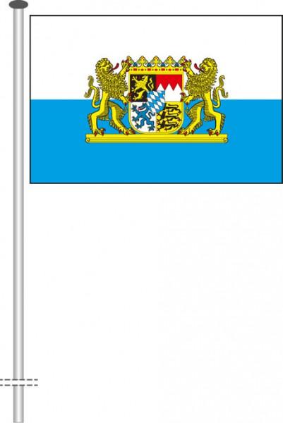Bayern - Dienstflagge als Querformatfahne