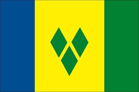 St. Vincent und die Grenadinen als Fanfahne