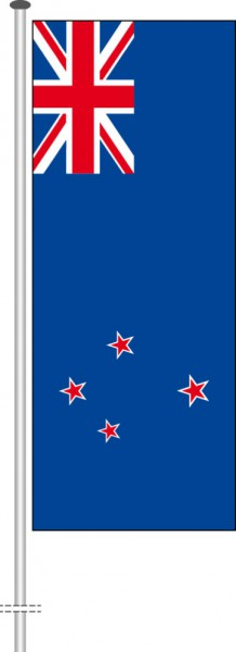 Neuseeland als Hochformatfahne