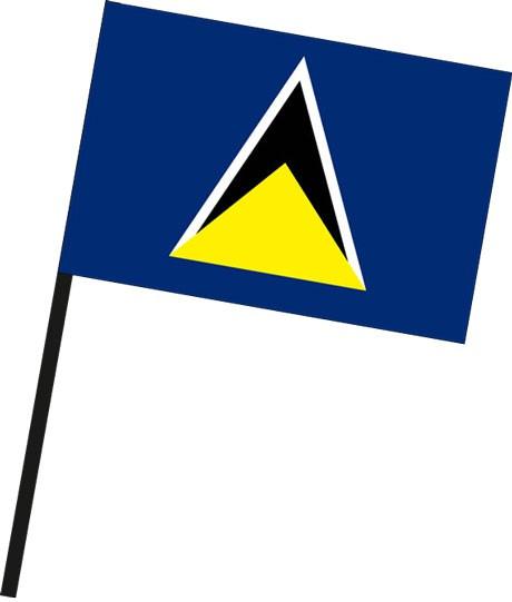 St. Lucia als Stockfahne