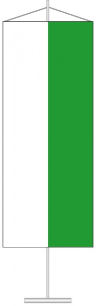 Sachsen - Streifenflagge als Tischbanner