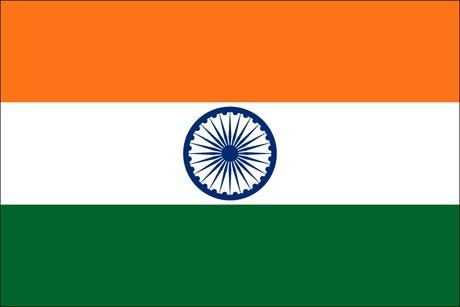 Indien als Fanfahne