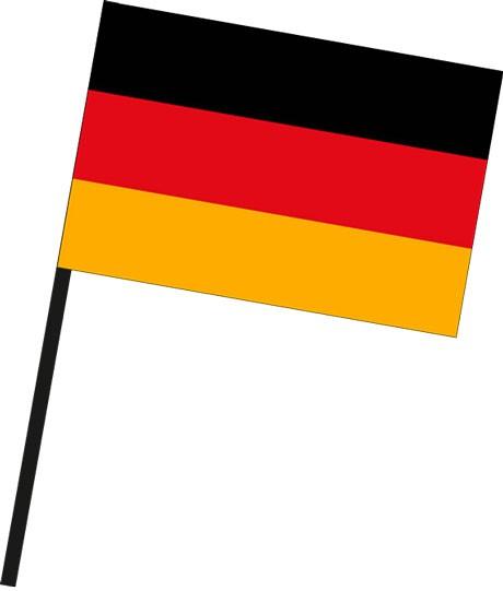 Deutschland als Stockfahne