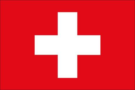 Schweiz als Fanfahne