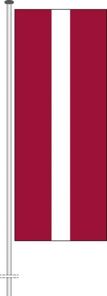 Lettland als Hochformatfahne
