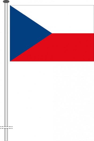 Tschechische Republik als Querformatfahne