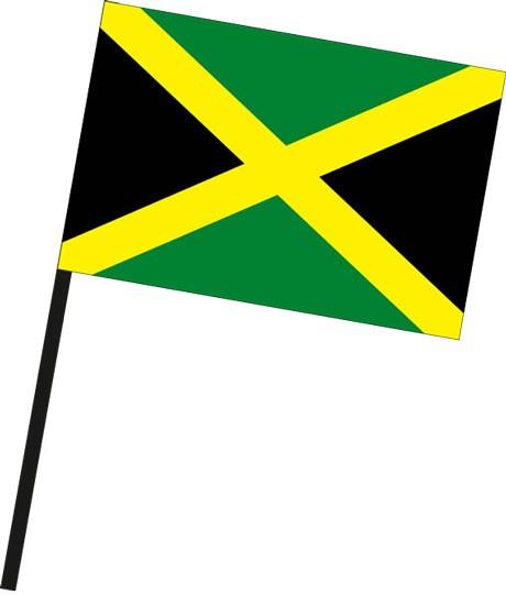 Jamaika als Stockfahne
