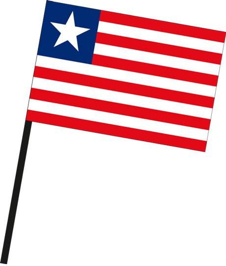 Liberia als Stockfahne