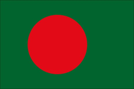 Bangladesch als Fanfahne