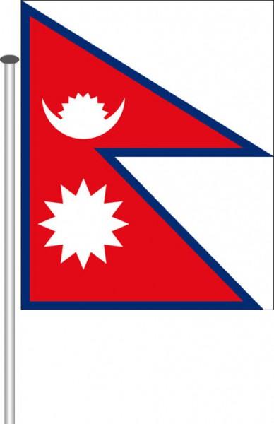 Nepal als Querformatfahne