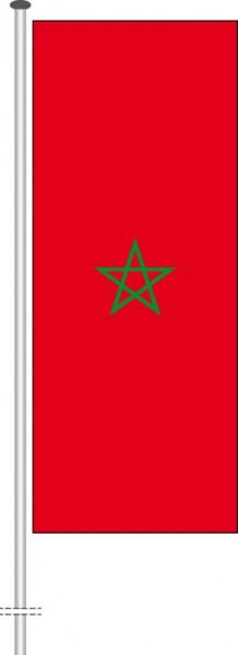 Marokko als Hochformatfahne