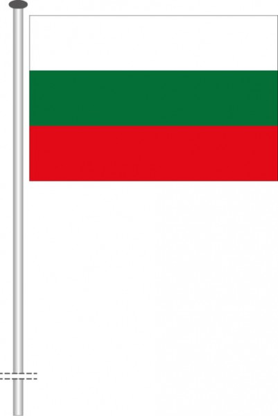 Bulgarien als Querformatfahne
