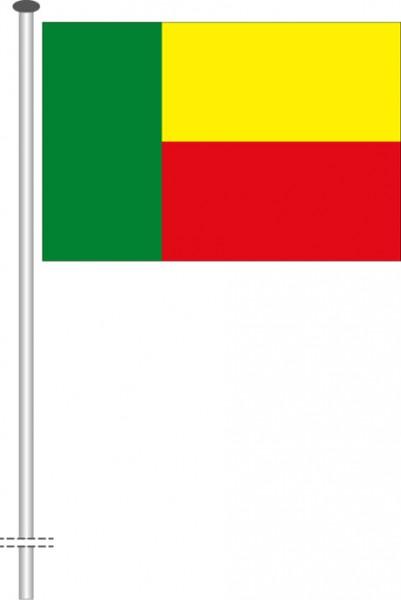 Benin als Querformatfahne