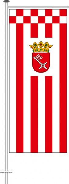 Bremen - Dienstflagge als Auslegerfahne