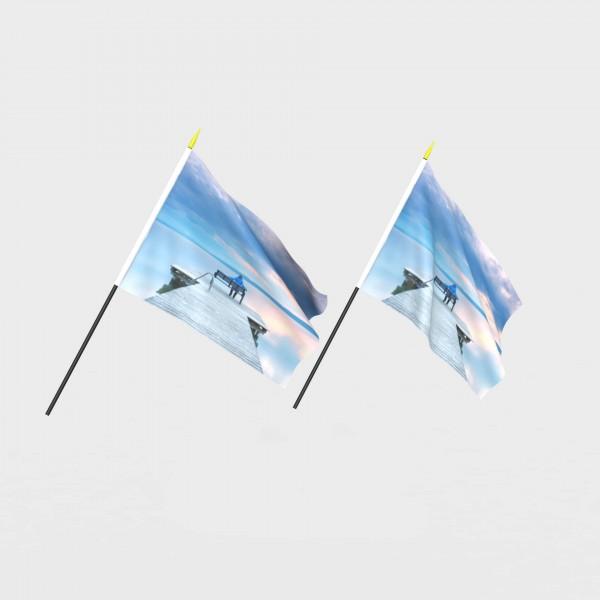Schwenkflagge mit eigenem Motiv drucken