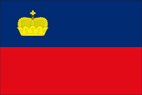 Liechtenstein als Fanfahne