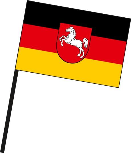 Niedersachsen - Bürgerflagge als Stockfahne