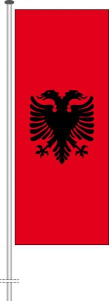 Albanien als Hochformatfahne