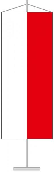 Thüringen - Streifenflagge als Tischbanner