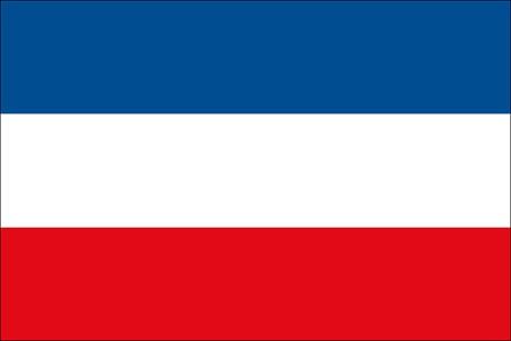 Serbien als Fanfahne