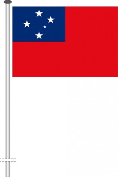 Samoa als Querformatfahne