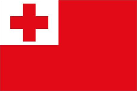 Tonga als Fanfahne