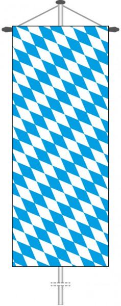 Bayern - Raute als Bannerfahne