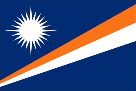 Marshallinseln als Fanfahne