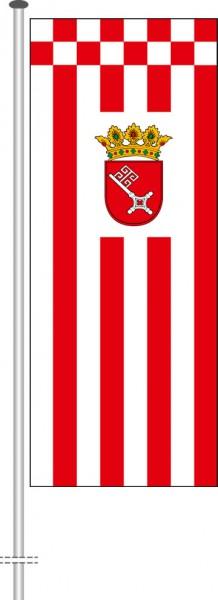 Bremen - Dienstflagge als Hochformatfahne