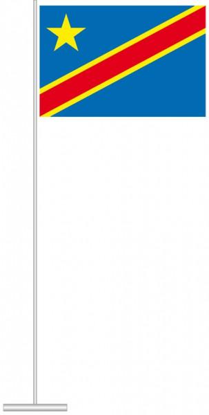 Kongo Kinshasa als Tischfahne
