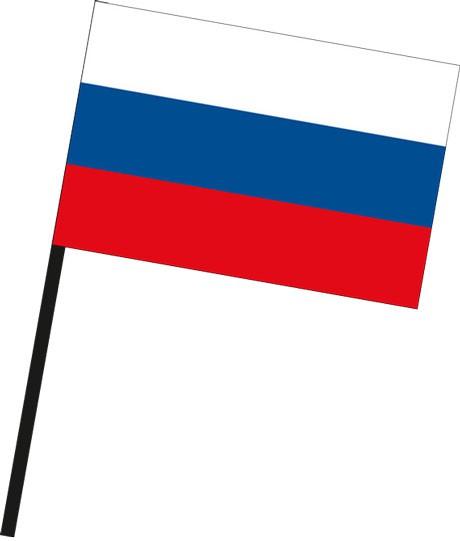 Russland als Stockfahne