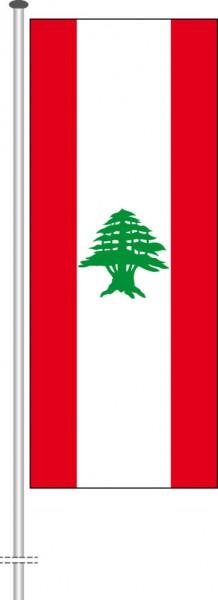 Libanon als Hochformatfahne