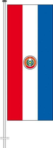 Paraguay als Hochformatfahne