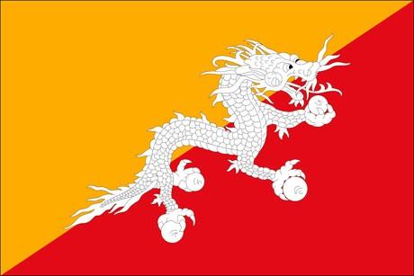 Bhutan als Fanfahne