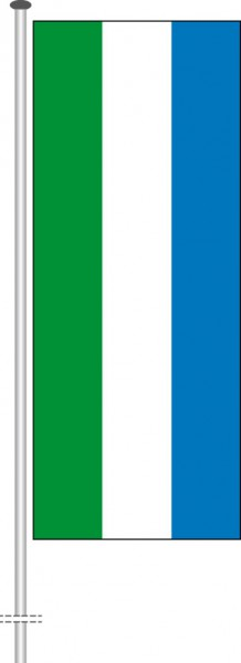 Sierra Leone als Hochformatfahne